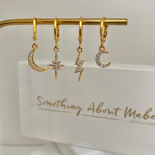 Sparkle Huggie Hoop Earrings - Options Available