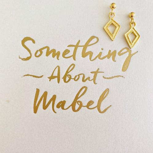 Gold Dagger Stud Earrings