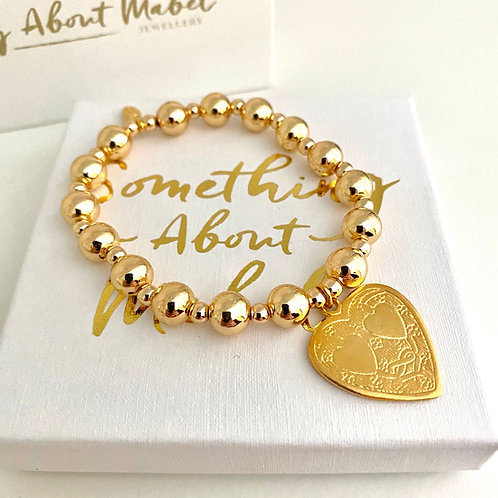 Gold Chunky Heart Bracelet