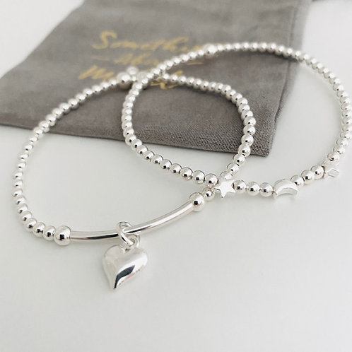 Classic Moon & Star Bracelet Mini Stack