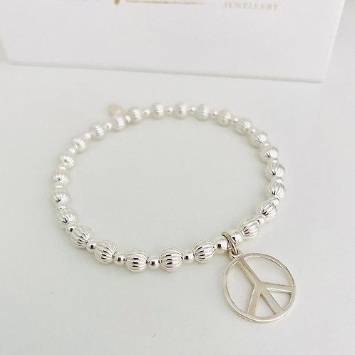 Forever Peace Bracelet - Silver