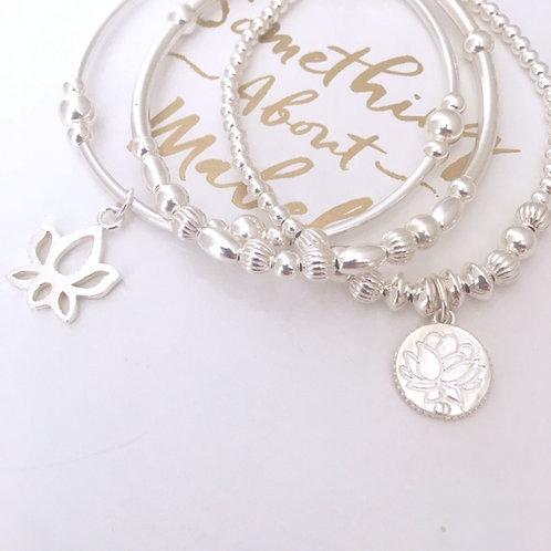 Harmony Silver Bracelet Stack