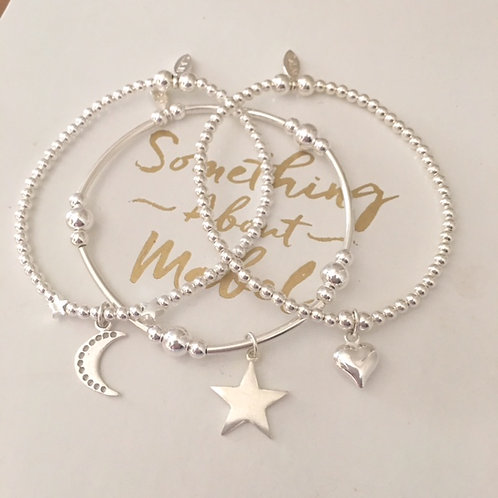 'Love You To The Moon & Stars' Bracelet Stack