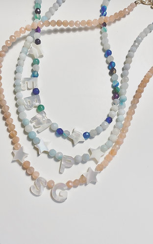 Holy Mother Of Pearl Personalised Necklace