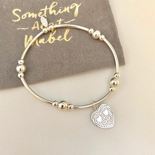 Marlowe Silver Heart Bracelet