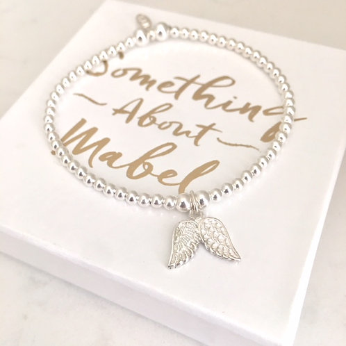 Classic Silver Wings Bracelet