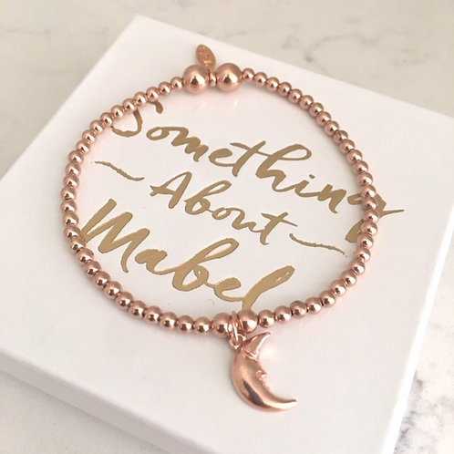 Classic Rose Gold Moonface Bracelet