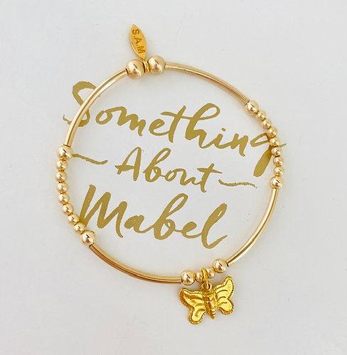 Classic Noodle Gold Butterfly Bracelet