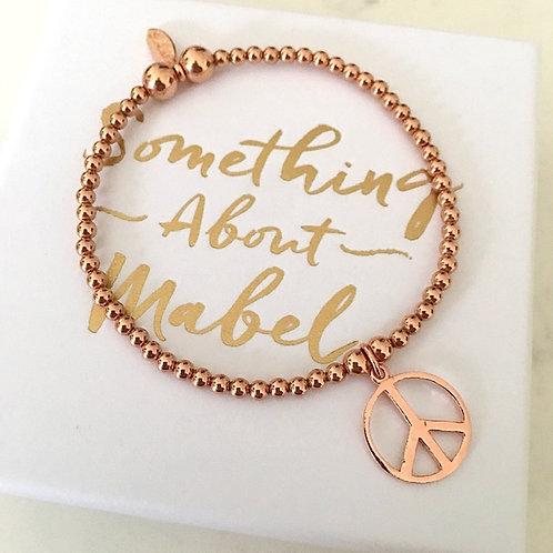 Classic Rose Gold Peace Bracelet