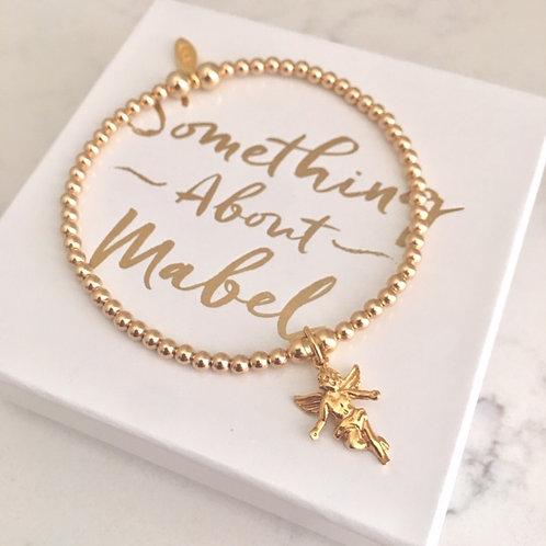 Classic Gold Guardian Angel Bracelet