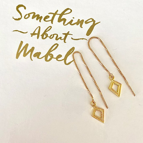 Gold Dagger Thread Earrings