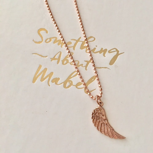 Angel Wing Rose Gold Necklace