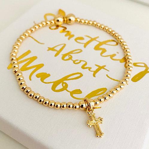 Classic Gold Cross Bracelet