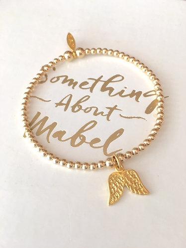 Classic Gold Wings Bracelet