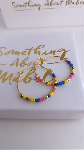 Island Earrings - Yellow/Blue/Pink