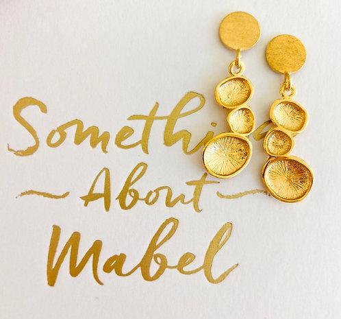 Gold Chrysalis Earrings