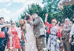 Wedding Confetti Kiss