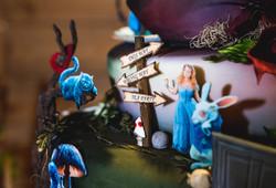 Wonderland Themed Wedding Cake