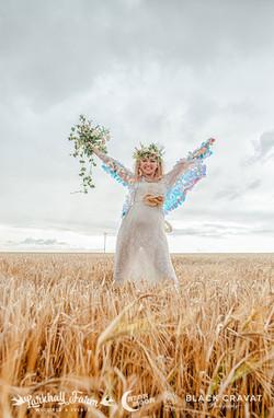 Joyful festival bride