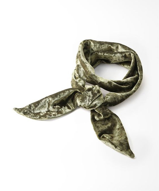 Hammered Velvet  SCARF  - earth