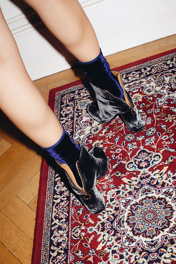 Velvet Socks navy