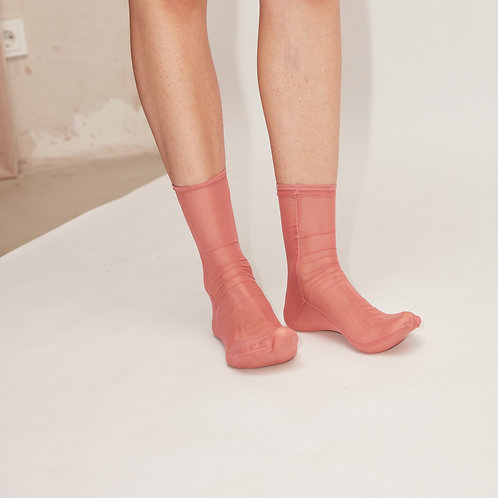 NET SOCKS - terracotta