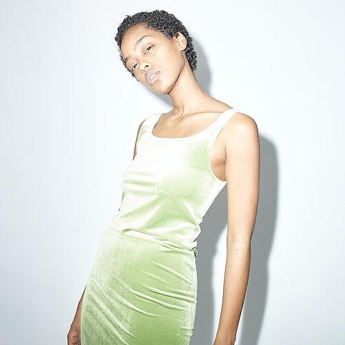 Velvet DRESS DINA - apple green