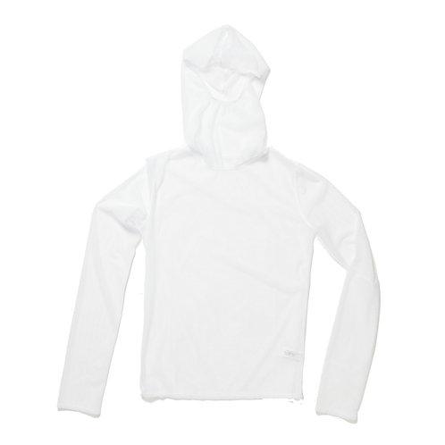 NET HOODY - white