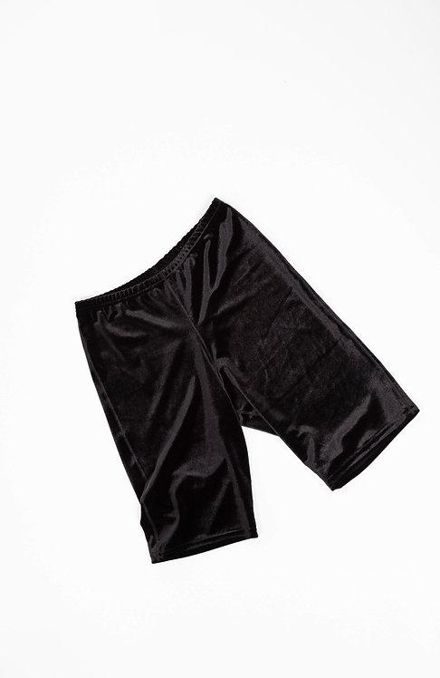 VELVET SHORT - black