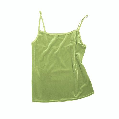 VELVET TANK - apple green