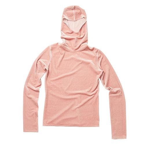 VELVET HOODY - light pink
