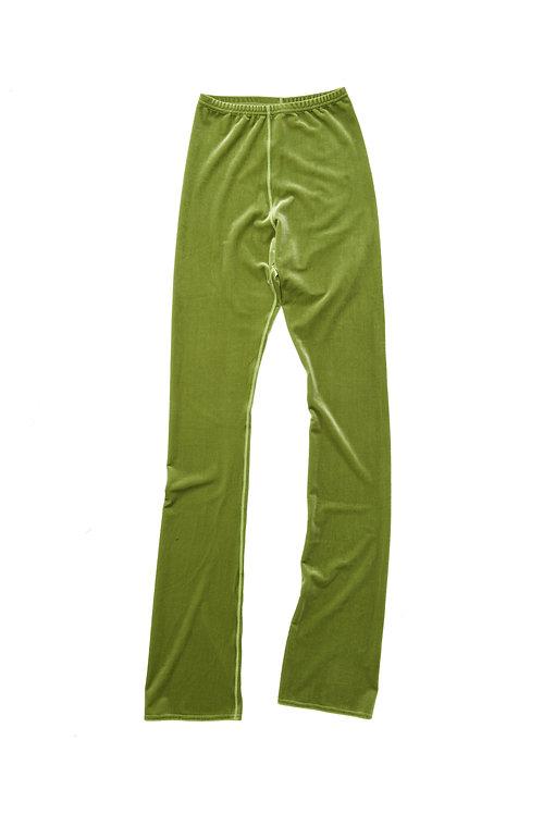 Velvet FLAIR LEG PANTS - apple green