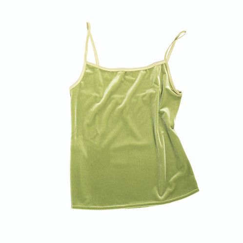 VELVET TANK - apple green