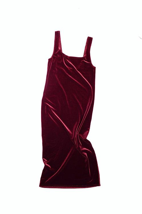 Velvet DRESS DINA - wine