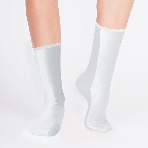 VELVET ANKLE SOCKS - white