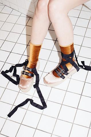 Velvet Socks gold