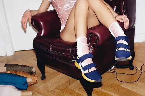 Velvet Socks light pink