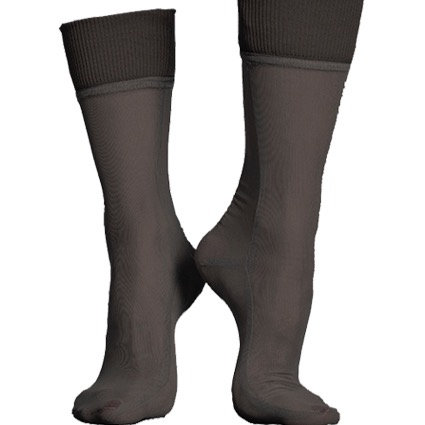 NET CUFF SOCKS - black