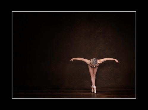 Ballet Pose #2 Mounted Print