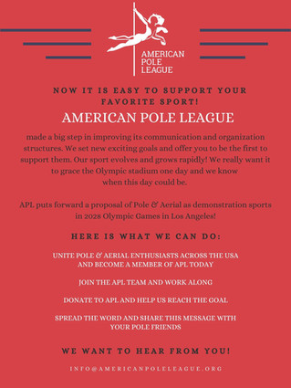 American Pole League shares its exciting goals!