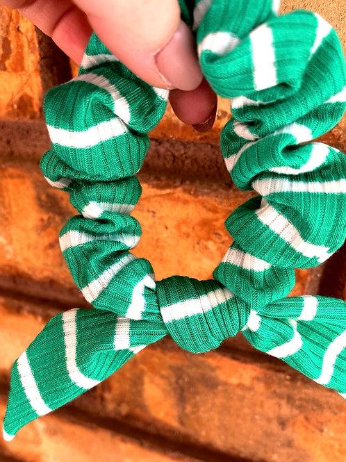 seafoam ribbed scrunchie