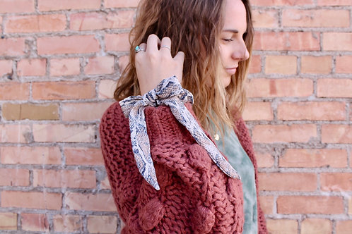 snake skin tied scrunchie