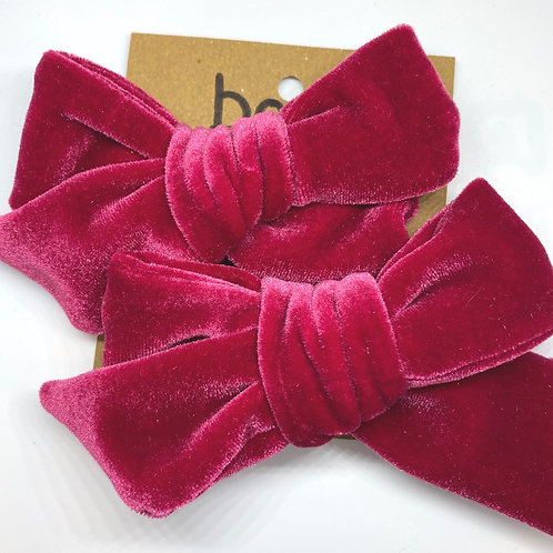 scarlett velvet bow