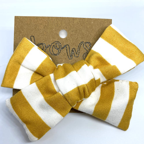 yellow stripe bow