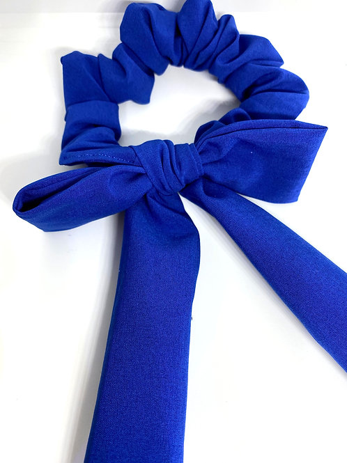 bright blue tied bow