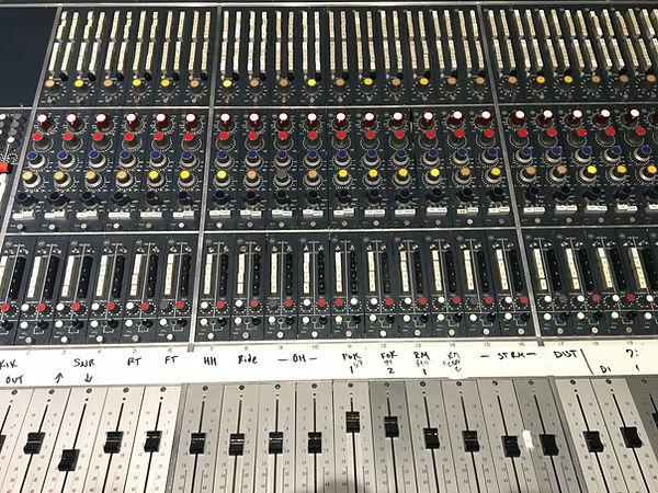 neve console drum mics