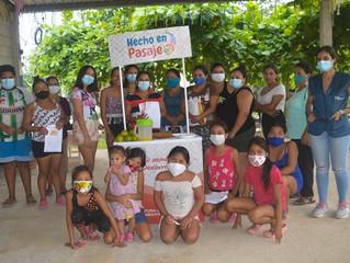 GAD Pasaje realizó taller sobre pastelería básica en localidad los Saltos.
