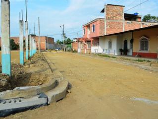 ALCALDÍA DE PASAJE CONSTRUYE SUMIDEROS EN CALLES LOTIZACIÓN SANTA MARTHA