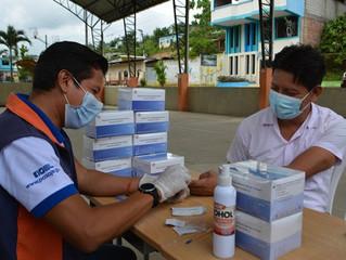 Alcaldía de Pasaje realizó pruebas rápidas de covid en Casacay.