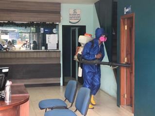 Alcalde César Encalada facilitó la desinfección al GAD de Balsas y Marcabelí.